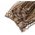 Kudrnatý clip in set 50cm - tmavý melír