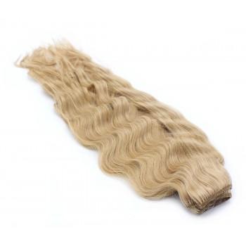 Vlnitý clip in pás 50cm - přírodní blond