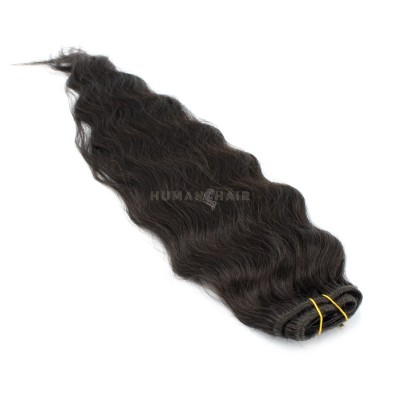 Vlnitý clip in pás 60cm - přírodní černá