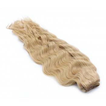 Vlnitý clip in pás 40cm - přírodní blond