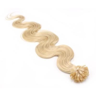 Vlnité keratin 50cm - nejsvětlejší blond