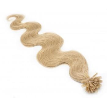 Vlnité keratin 60cm - přírodní blond