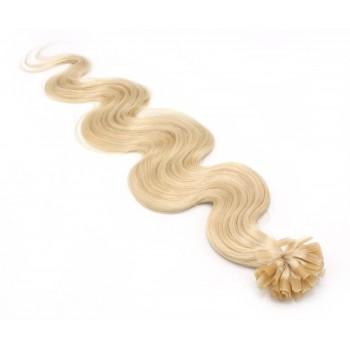 Vlnité keratin 60cm - nejsvětlejší blond