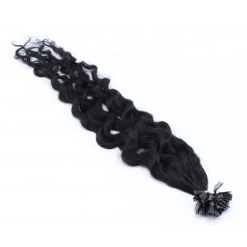 Kudrnaté keratin 50cm - černá