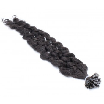 Kudrnaté keratin 50cm - přírodní černá