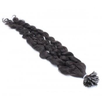 Kudrnaté keratin 60cm - přírodní černá