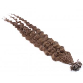 Kudrnaté keratin 60cm - světlejší hnědá