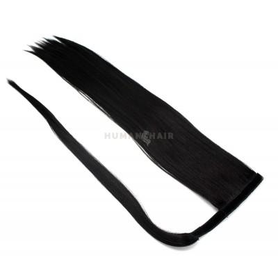 Clip in culík 100% japonský kanekalon 60cm - černá