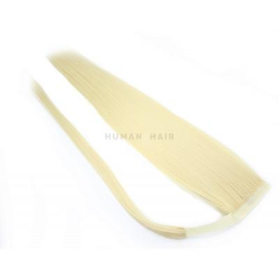 Clip in culík 100% japonský kanekalon 60cm - nejsvětlejší blond