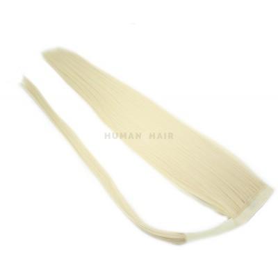 Clip in culík 100% japonský kanekalon 60cm - platina