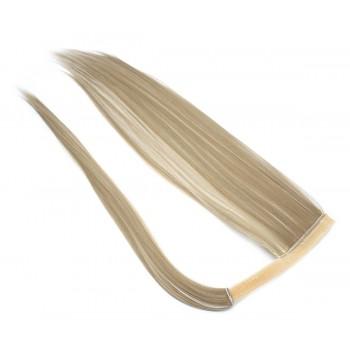 Clip in culík 100% japonský kanekalon 60cm - platina/světle hnědá