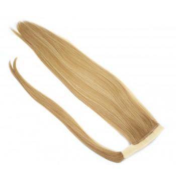 Clip in culík 100% japonský kanekalon 60cm - přírodní/světlejší blond