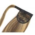 Clip in culík 100% japonský kanekalon 60cm - tmavý melír
