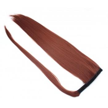 Clip in culík 100% japonský kanekalon 60cm - měděná