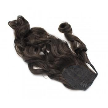 Vlnitý clip in culík 100% japonský kanekalon 60cm - přírodní černá