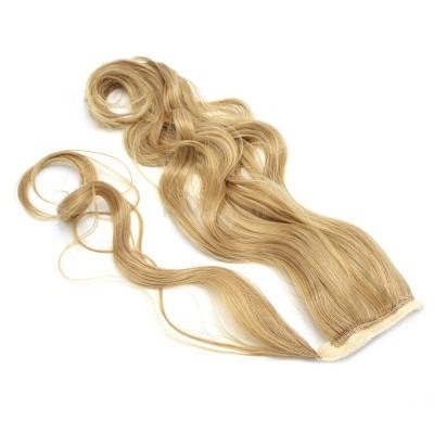 Vlnitý clip in culík 100% japonský kanekalon 60cm - přírodní blond