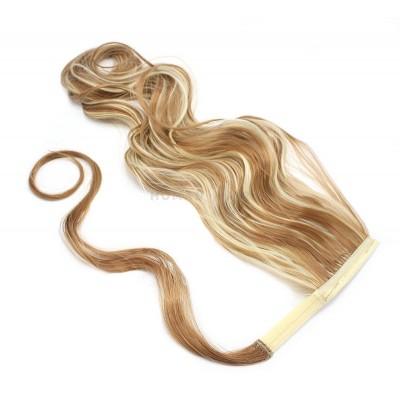 Vlnitý clip in culík 100% japonský kanekalon 60cm - světlý melír