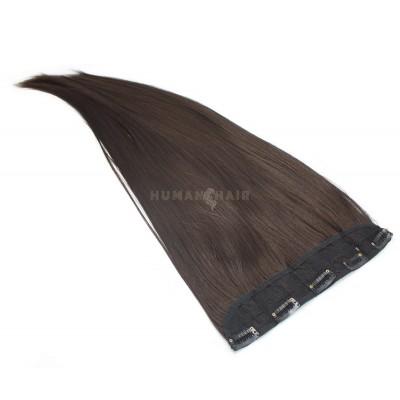 Clip in pás japonský kanekalon 60cm - tmavě hnědá