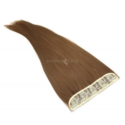 Clip in pás japonský kanekalon 60cm - středně hnědá