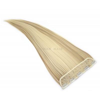 Clip in pás japonský kanekalon 60cm - platina/světle hnědá