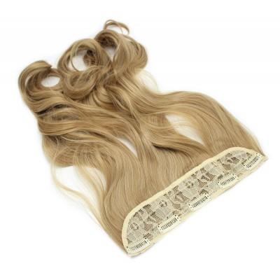 Vlnitý clip in pás japonský kanekalon 60cm - přírodní blond