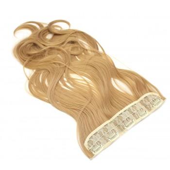 Vlnitý clip in pás japonský kanekalon 60cm - přírodní/světlejší blond